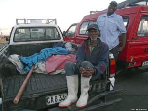 Fishermen at Kalk Bay harbour