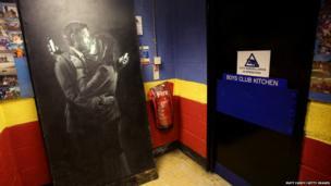 Banksy artwork, named Mobile Lovers