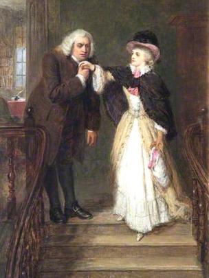 Sarah Siddons and Samuel Johnson