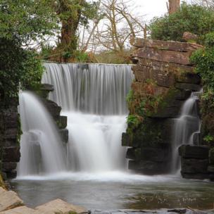 Waterfall in Penllergaer Woods, Swansea