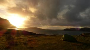Sunset over the Isle of Mull