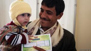 Father and child in Yemen
