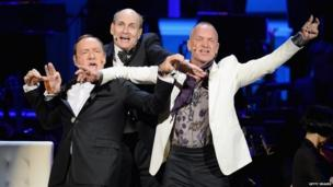 Kevin Spacey, James Taylor and Sting (17 April 2014)
