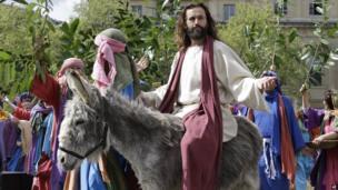 Jesus in Trafalgar Square, central London