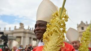 Ghanaian cardinal Peter Turkson at the Vatican - Sunday 13 April 2014