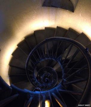 Inside The Monument in London