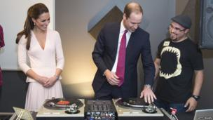 By the time the tour reached Adelaide, it was time to have a try at being a DJ in a community music centre. The royal tour will finish in the Australian capital, Canberra, on 25 April.