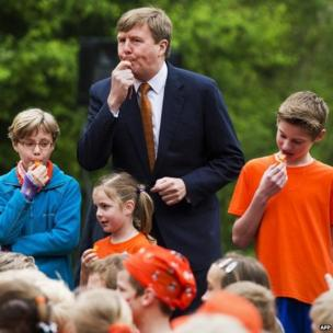 Dutch King Willem-Alexander blows the whistle for the King's Games on 25 April, part of the King's Day celebrations