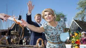 Dutch Queen Maxima and King Willem-Alexander take part in King's Day celebrations, De Rijp (26 April)