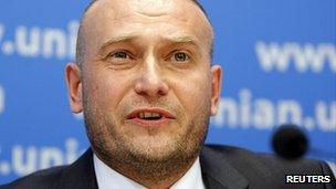 The Right Sector's leader, Dmytro Yarosh