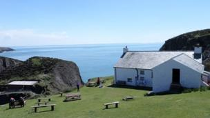 Greg and his wife's home on Ramsey Island