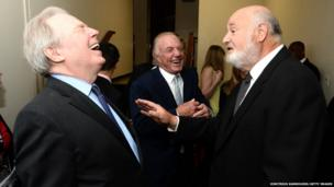 Michael McKean, James Caan and Rob Reiner attend the 41st annual Chaplin Award Gala