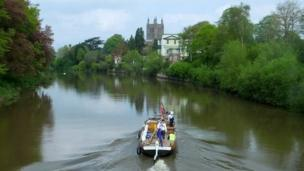 The trow passing through Hereford