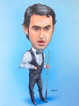 Ronnie O' Sullivan caricature
