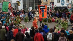 Hal an Tow in the streets of Helston