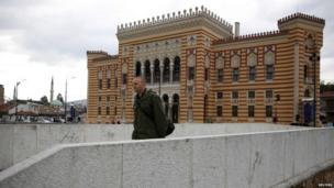 Sarajevo city hall exterior