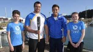 Robbie Jones, Zane Duquemin, Tom Daley and Fran Stubbings