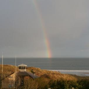 A rainbow over the Horton RNLI lifeboat station