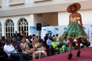 A model in Bangui