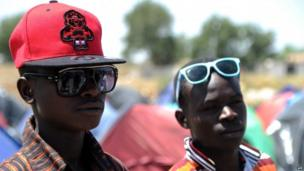 Illegal migrants from Niger in the Algerian town of Boufarik on 14 May 2014