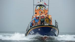 Robert McVeigh aboard an RNLI lifeboat