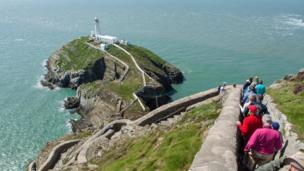 Heather Kenny sent this view taken on the Isle of Anglesey walking festival down 'The 410 Steps' to South Stack, which she says is known for its scenery and the birds nesting on its rocks and cliffs