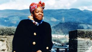 "Maya Angelou in Scotland for the BBC programme ""Angelou on Burns"" in 1996"
