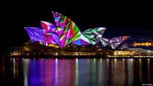Sydney Opera House in Vivid Colour