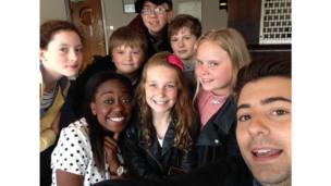 Ricky and Ayshah meet local kids