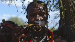 A woman from the Toposa ethnic group in Greater Kapoeta, South Sudan, on Saturday 24 May 2014