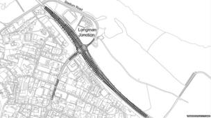 Plan for road layout at the Longman