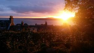 Sunset over the River Tay