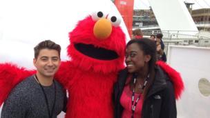 Ricky and Ayshah meet Elmo