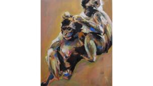 Two Monkeys by Emma Kirby