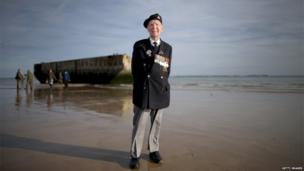 British veterans, including Bill Price (who will be 100 in July), returned to the beaches they stormed 70 years ago