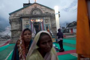 """Despite the dangerous conditions caused by last year's floods, pilgrims have returned to the Himalayan mountains for what's known as the """"Char Dham Yatra"""". There are only 700-800 pilgrims visiting each day, according to the state tourism office in Kedarnath"""