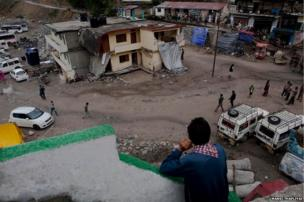 Sonprayag town was reduced to rubble in the floods but now locals and authorities are trying to rebuilt it.