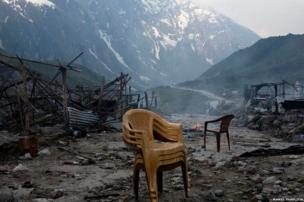 The main market in Kedarnath containing restaurants and guesthouses was wiped out in the floods last year.