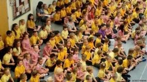 Children at Edward Heneage Primary in Grimsby