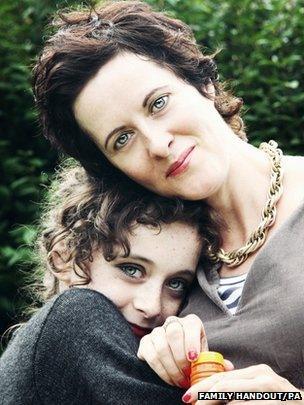 Martha Fernback and mum Anne-Marie Cockburn