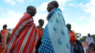 Maasai women talking in Enkorika, Kenya - Thursday 12 June 2014