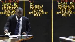 A stockbrokers in Harare, Zimbabwe - Friday 6 June 2014