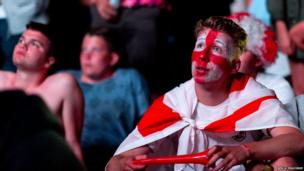 Football fan at Isle of Wight festival