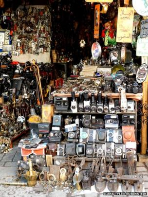 Old cameras in the Souks of Marrakesh