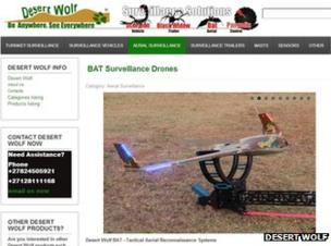 African firm is selling pepper-spray bullet firing drones - BBC News