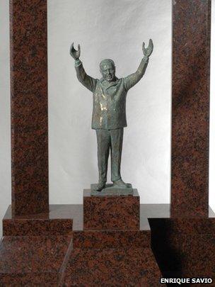 Model of the Peron statue designed by Enrique Savio