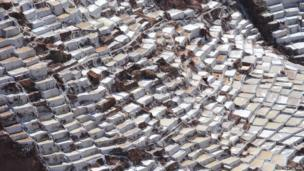 Salt Pans at Maras in Peru