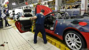 Maserati production line