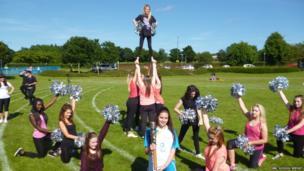Newbattle dancers show their support