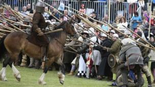 Re-enactment of Battle of Bannockburn